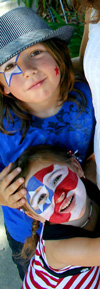 4th of July Face Paint