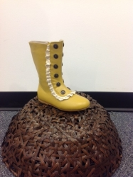 sado mustard leather tall winter boots