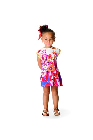 89e702279c3 Consider getting this white sleeveless Catimini On The Sunny Beach Fuchsia  Floral Girls Dress that comes with a mix of fuchsia and floral print.